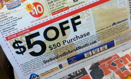 albertsons $5 off $50 coupon