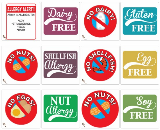 allergry stickers for kids