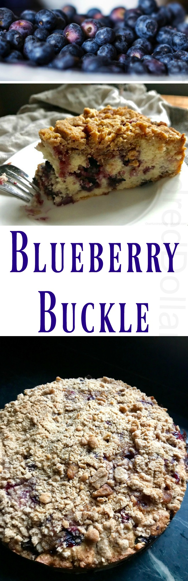 Sunday Brunch Recipes – Blueberry Buckle