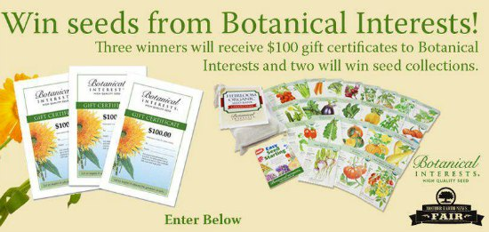 botanical interests seed giveaway