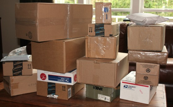 brown boxes packages