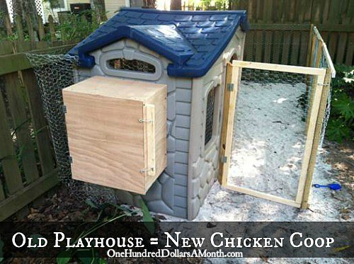 Chicken Coop Ideas – Turn a Kids Playhouse into a Chicken Coop