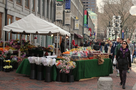 fruit stand Faneuil Hall - Boston, Massachusetts