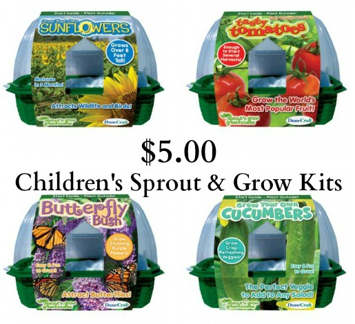 garden sprout and grow kits for children