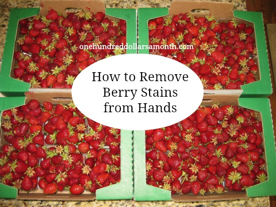 How to Remove Berry Stains from Your Hands