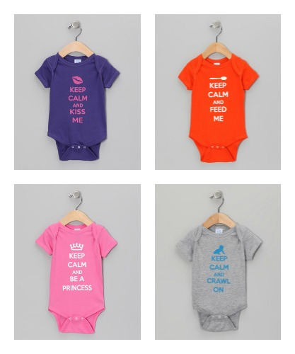 keep calm onsies infant body suir