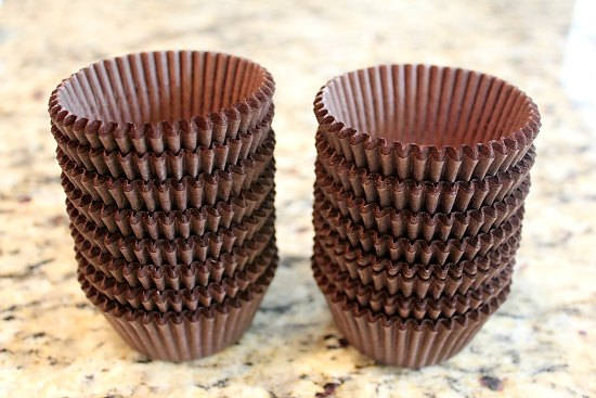 500 brown cupcake liners