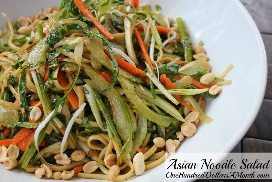 Asian Noodle Salad with Bok Choy