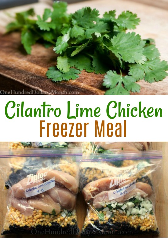 Freezer Meal Recipe –  Cilantro Lime Chicken