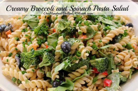 Creamy Broccoli and Spinach Pasta Salad