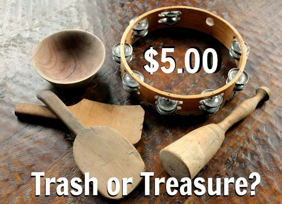 One Man's Trash is Another Man's Treasure – Wooden Bowls and a Tambourine