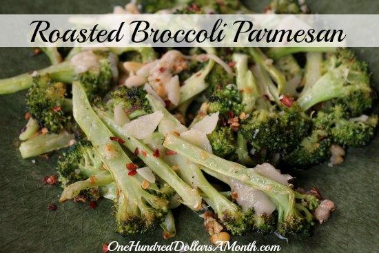 Roasted Broccoli Parmesan