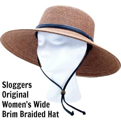 Sloggers Original Women's Wide Brim Braided Hat