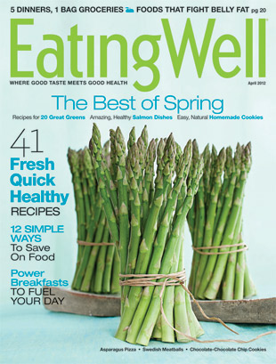 eating well magazine cover asparagus spring