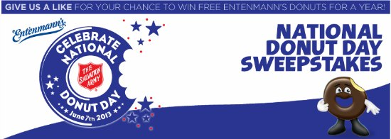 entenmann's free doughnuts for a year sweepstakes