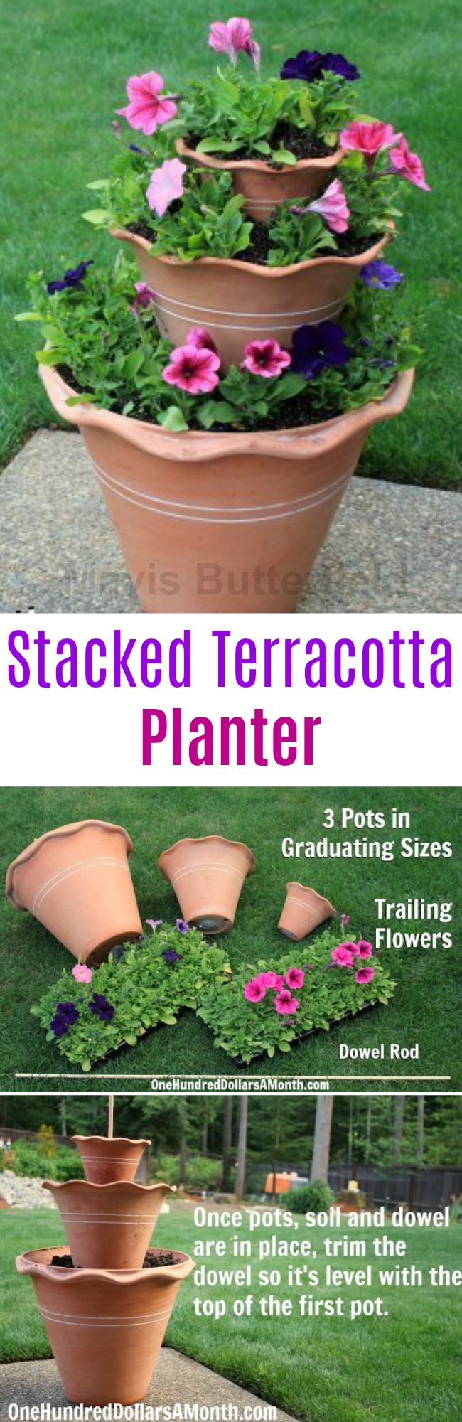 Container Gardening – DIY Stacked Terra Cotta Planter