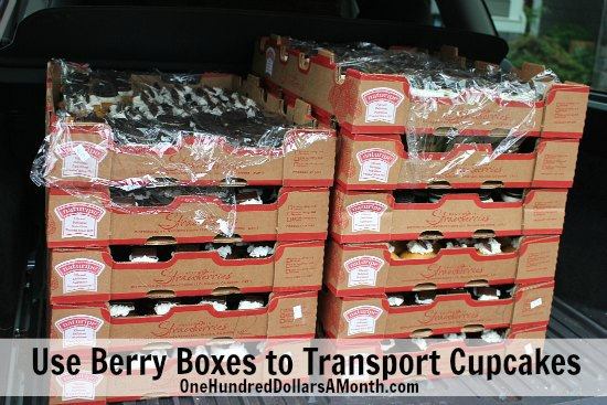 how to transport cupcakes
