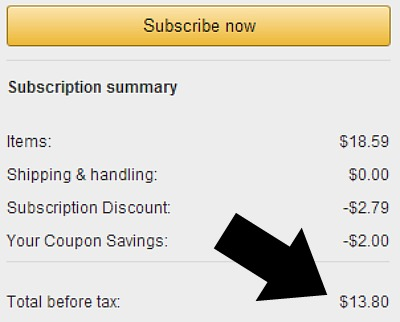 subscribe and save toilet paper