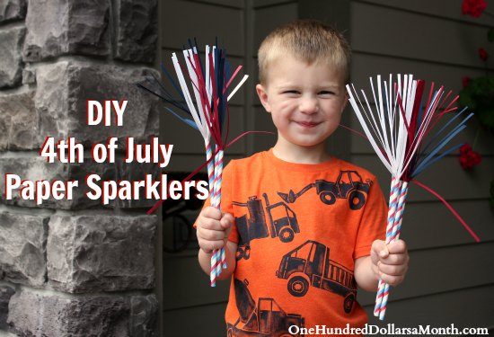 DIY – 4th of July Paper Sparklers