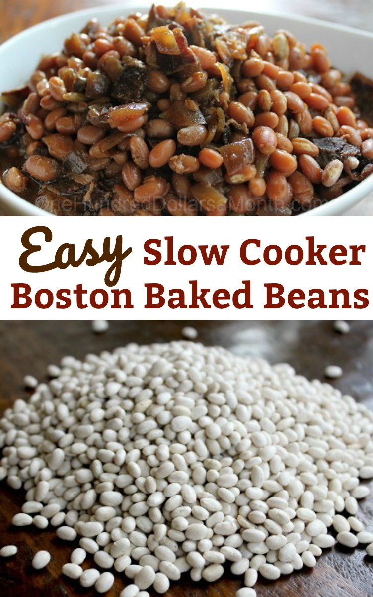 Easy Slow Cooker Recipes – Slow Cooked Boston Baked Beans