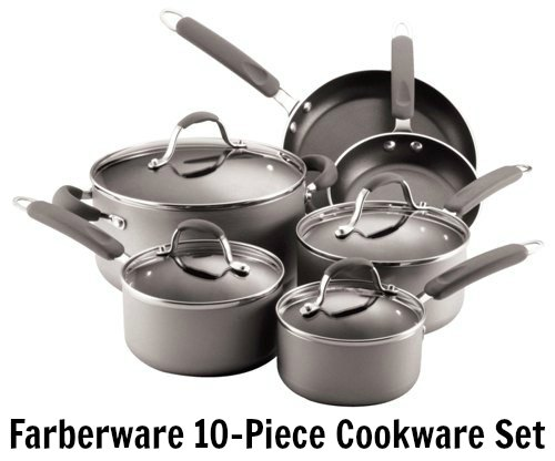 Amazon has the Farberware 10-Piece Cookware Set on sale for $60.58 ...