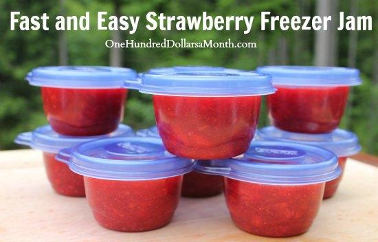 Fast and Easy Strawberry Freezer Jam