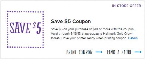 Hallmark $5 coupon