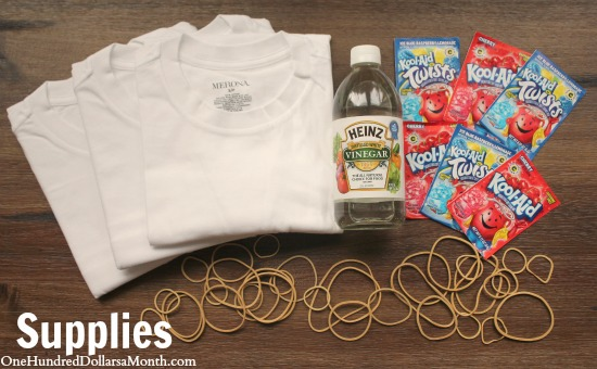 How to Make Kool Aid Tie Dyed T-Shirts