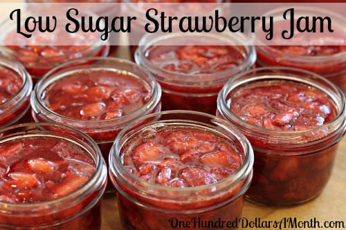 Preserving Strawberries Without Sugar Low Sugar Strawberry Jam