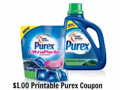 Purex Liquid or UltraPacks Detergent