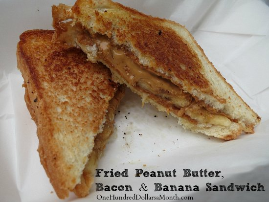 Elvis Presley's Fried Peanut Butter, Bacon and Banana Sandwich