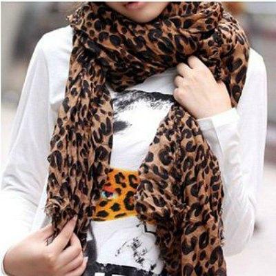 SODIAL-Fashion-Leopard-Pattern-Shawl-Scarf-Wrap-for-Women