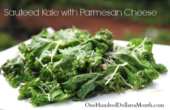 Sauteed Kale with Parmesan Cheese