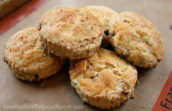 Savory Biscuits with Sun Dried Tomatoes and Herbs