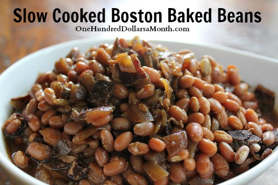 Easy Slow Cooker Recipes - Slow Cooked Boston Baked Beans