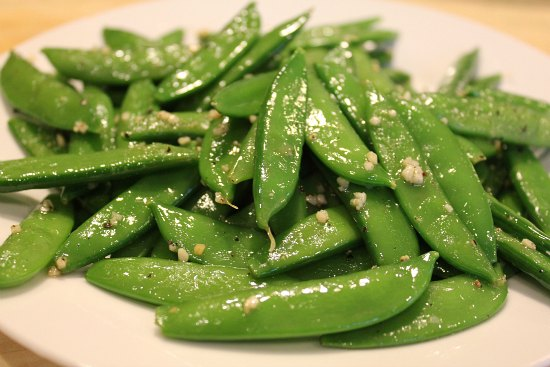 Sugar Snap Peas with Garlic