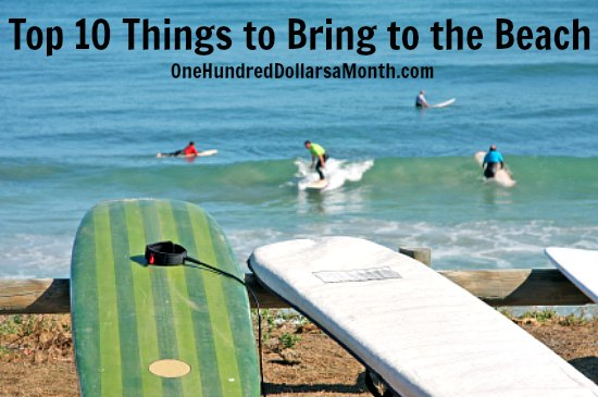 Top 10 Things to Bring to the Beach