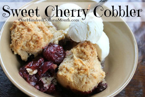 Sweet Cherry Cobbler Recipe — Dishmaps