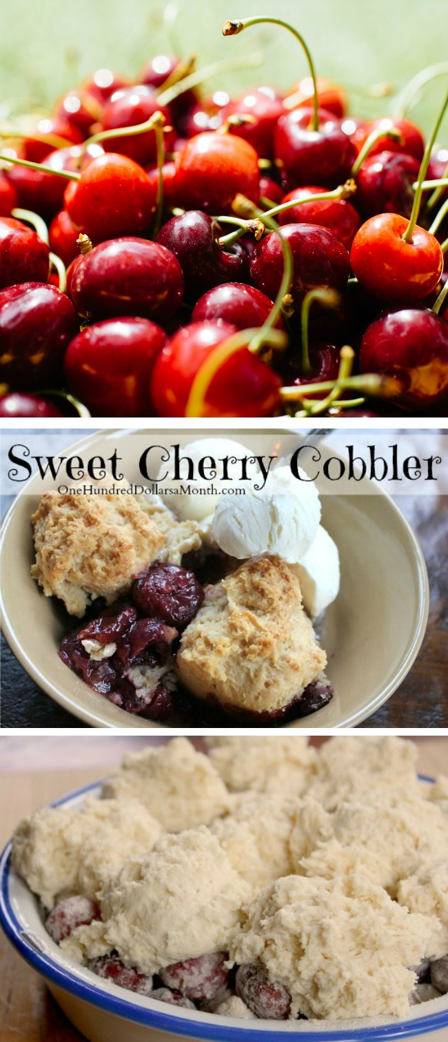 Sweet Cherry Cobbler