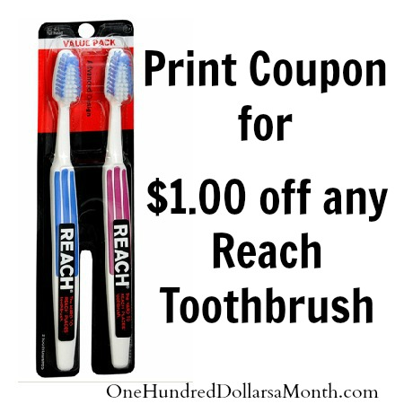 reach toothbrush coupon
