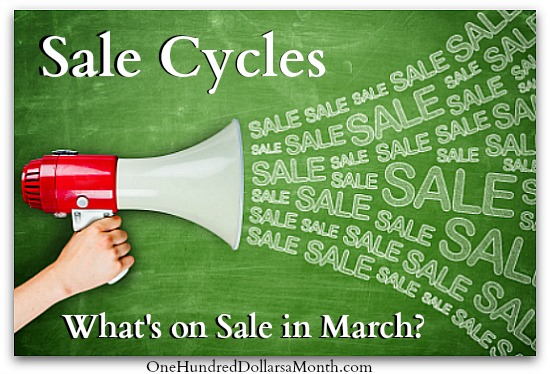 Sale Cycles – What's on Sale in March?