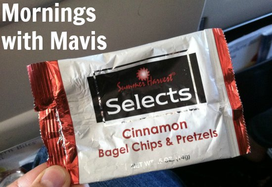 snack pretzels airline food