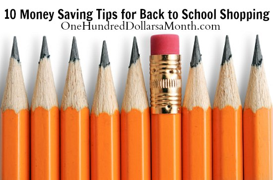 10 Money Saving Tips for Back to School Shopping