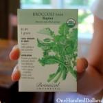 Broccoli raab seed packet