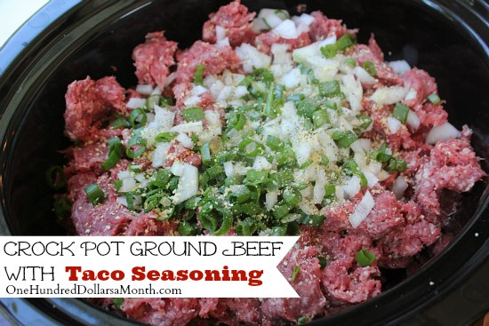 Crock Pot Ground Beef w Taco Seasoning