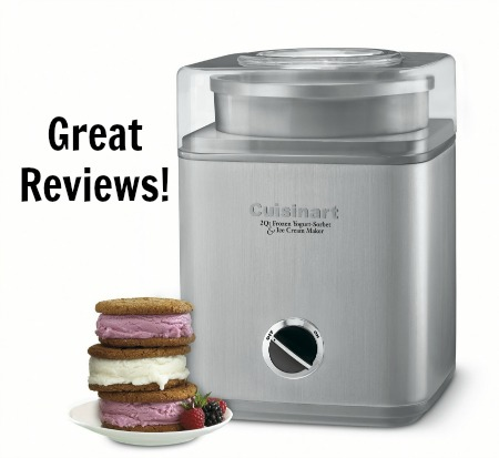 Cuisinart 2 Quart Automatic Frozen Yogurt, Sorbet, and Ice Cream Maker
