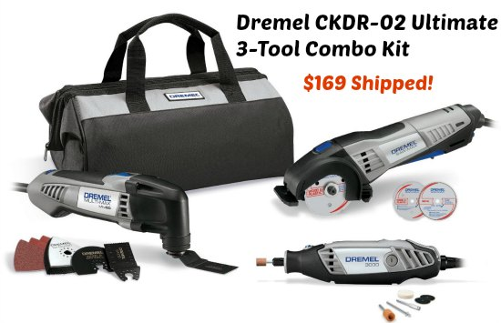 Dremel CKDR-02 Ultimate 3-Tool Combo Kit