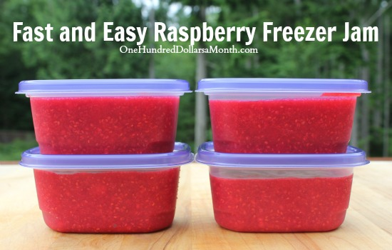 Fast and Easy Raspberry Freezer Jam