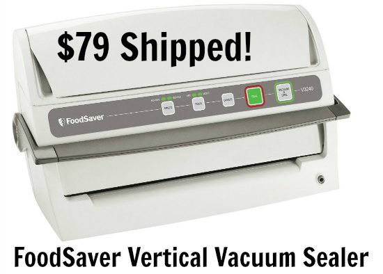 FoodSaver V3240 Vertical Vacuum Sealer, White
