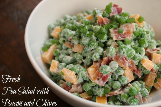 Fresh Pea Salad with Bacon and Chives